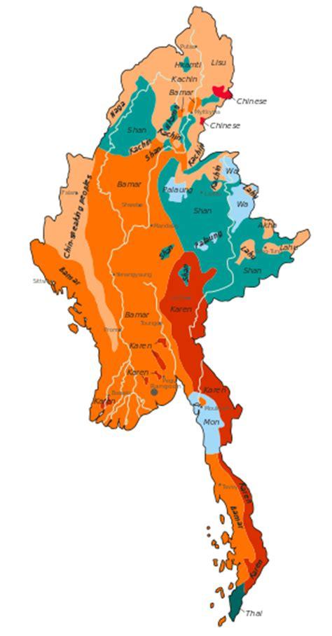 myanmar map png languages of myanmar