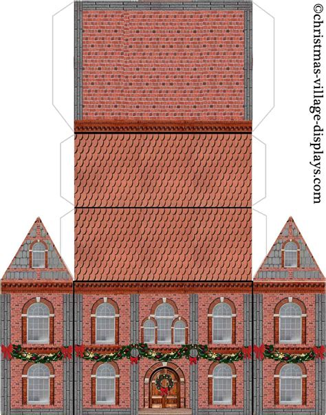 printable paper buildings cardboard model house template printable model template