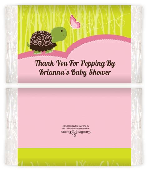 Baby Shower Popcorn Wrappers by Baby Turtle Pink Baby Shower Popcorn Wrappers Baby