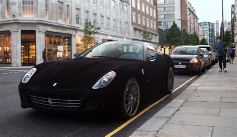 velvet wrapped cars velvet ferrari spotted in knightsbridge london metro news