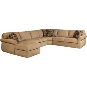 Broyhill veronica upholstered laf chaise sectional sofa in beige