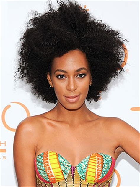 solange knowles natural know your hair type sporty afros