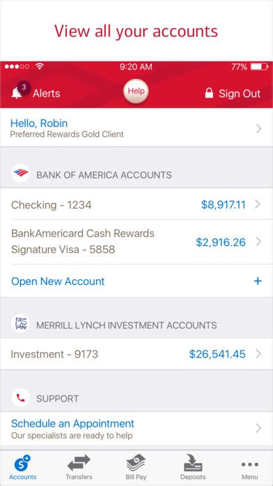 bank account app bank of america mobile banking on the app store
