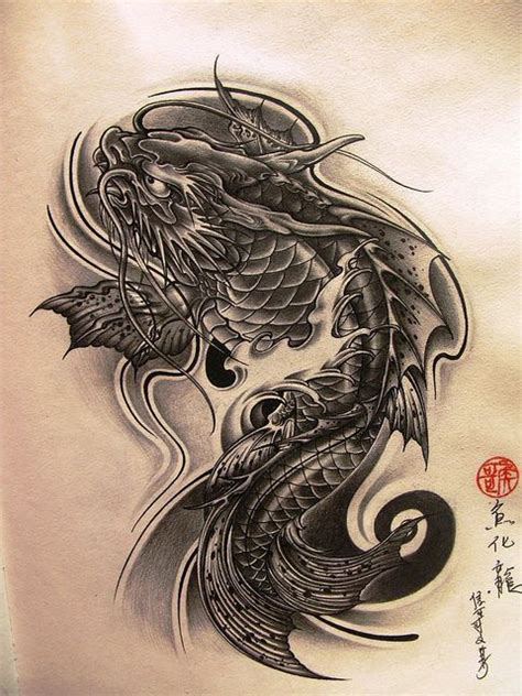 koi to dragon tattoo design best 25 koi sleeve ideas on japanese