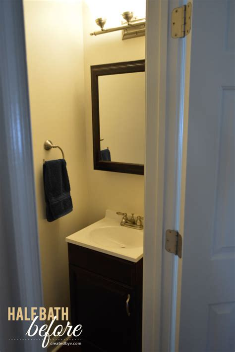 half bathroom makeovers the half bath makeover created by v