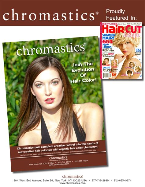 haircut and style magazine chromastics in august 2014 issue of hair cut style magazine