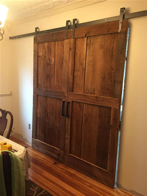 rustic barn doors custom rustic barn door by m karl llc custommade