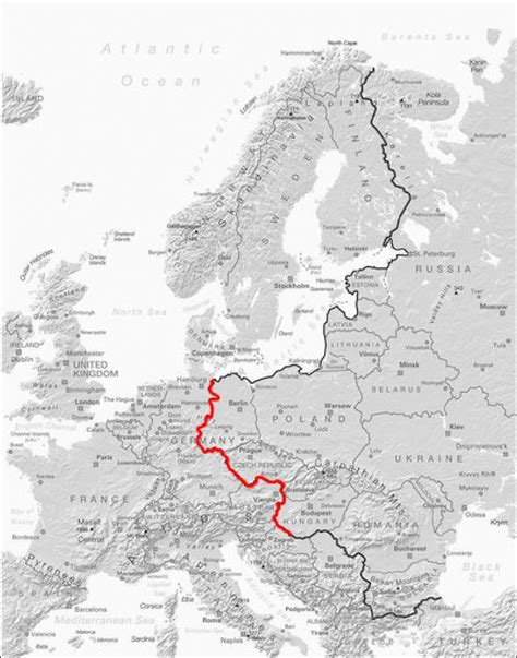 map iron curtain map biking borders