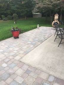 Adding Pavers To Concrete Patio Best 25 Pavers Patio Ideas On Paver Patio Brick Paver Patio And Backyard Pavers