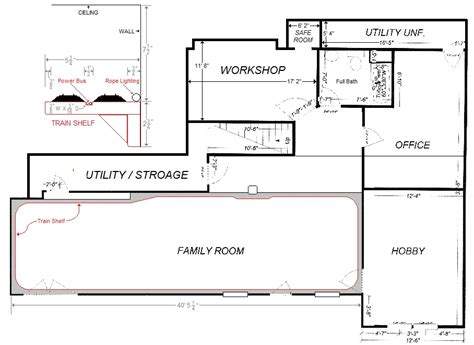Visio Floor Plan Scale by How To Layout A Basement American Hwy