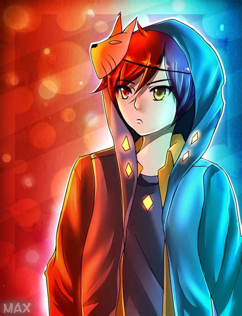 anime vire boy fire and ice by maxiecute12 on deviantart