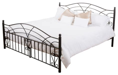 iron king size bed frame edsel cal king size iron bed frame black victorian