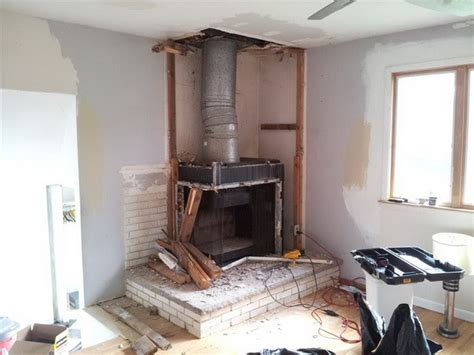 Removing Fireplace by How To Remove A Chimney Or Fireplace Yourself