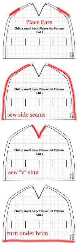 fleece hat template free fleece hat pattern easy sewing tutorial with