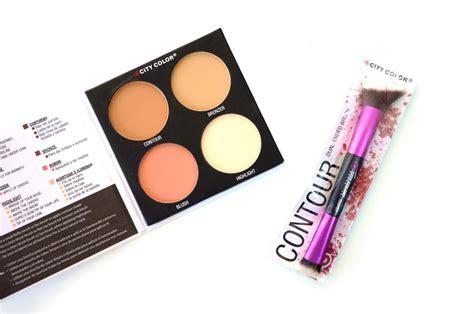 City Color Contour Palette Makeup Palette Bronzer Bedak Brush affordable finds city color contour define palette and contour brush project vanity