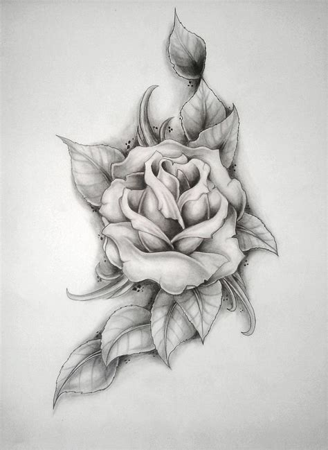tattoo rose sketch mercyys birthday by ritubimbi on deviantart if