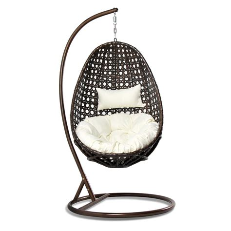 wicker egg chair cushion outdoor wicker hanging egg chair with pillow cushion