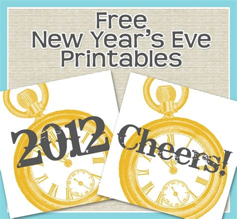 printable new years eve clock 123 best new year s eve party ideas images on pinterest