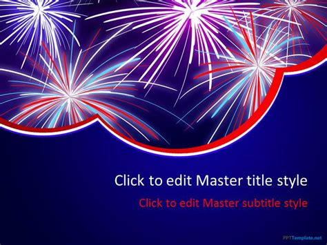 Free Celebration Powerpoint Templates Fireworks Animation For Powerpoint
