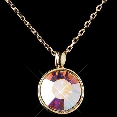 gold ab swarovski element jewelry set 9600