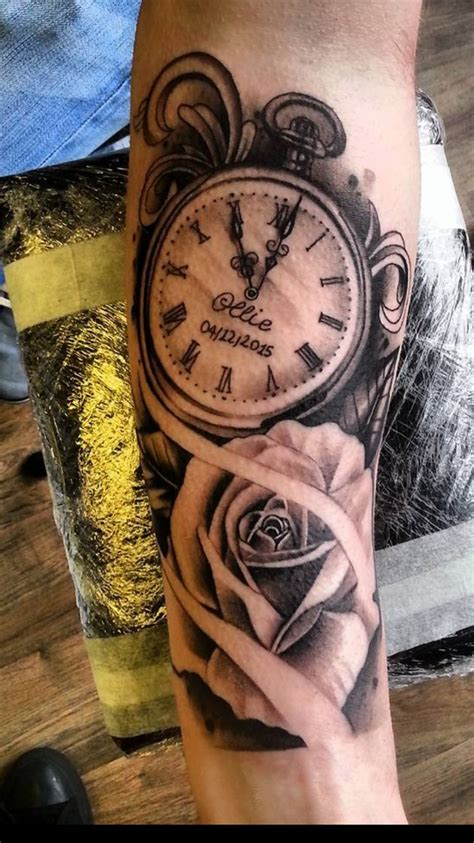 old clock tattoo designs oh em gee tale as as time tatted