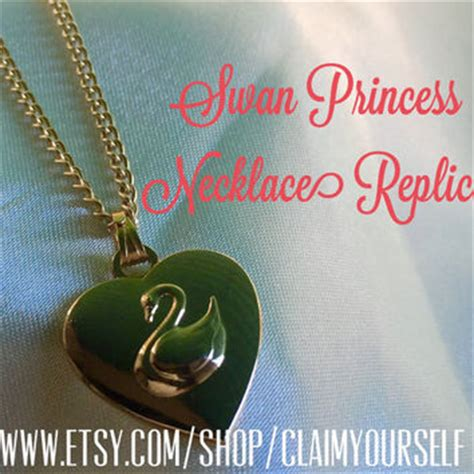 Anting Rhinestone Swan Princess Gold Plated princess odette necklace the swan from claimyourself on etsy
