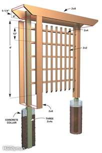 arbor trellis plans arbors trellis trellis plans idea the families handyman