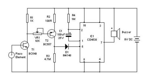 piezoelectric sensor circuit diagram vibration sensor circuit diagram piezoelectric vibration