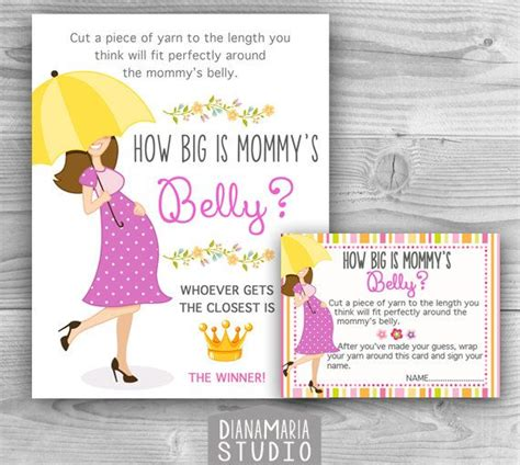Babyshower Registry Card Template The Bump by How Big Is S Belly Printable Baby Shower Baby