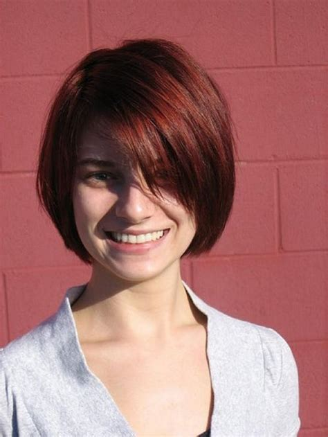 one length bob with side sweep 2012 short bob hairstyles with side swept bangs
