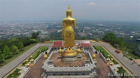 hat yai new year 2015 standing buddha in hat yai thailand from above