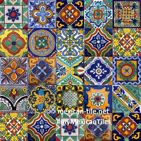Handmade Mexican Tiles - decor ideas pattern mexican tiles colors kitchens