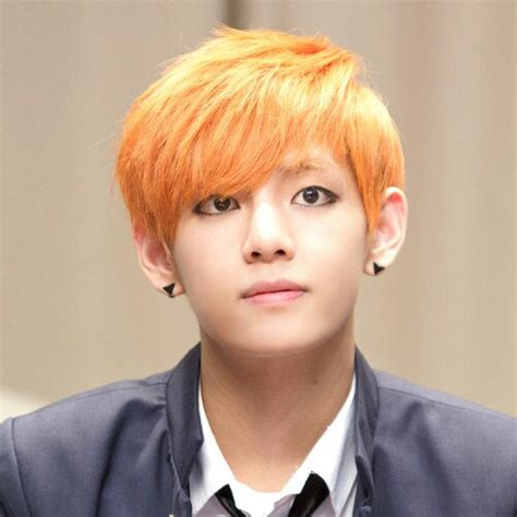 Bts V Taehyung Big Fan Kipas By Crescendo bts v orange hair erik 225 225 225 225 nak bts kpop and bts bangtan boy
