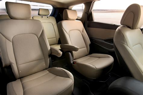 three row hyundai santa fe has six or seven seats