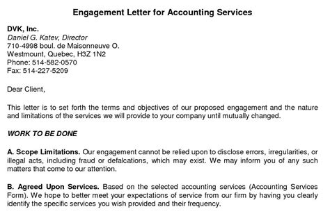 bookkeeping engagement letter template excel spreadsheet