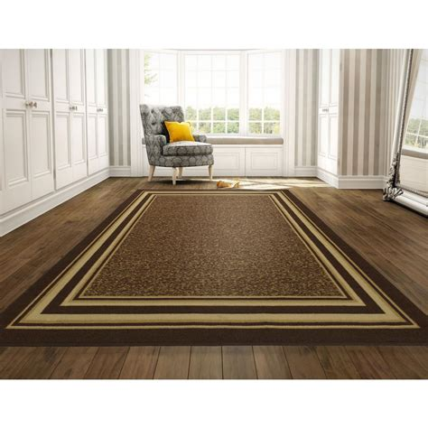 10 ft contemporary rugs ottomanson ottohome collection contemporary bordered