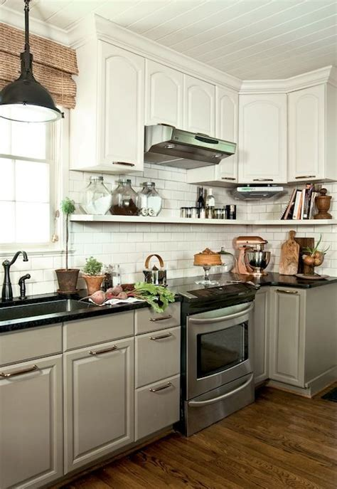 Two Tone Painted Kitchen Cabinets by Farrow Mouse S Back Kitchen Cabinets Design Ideas