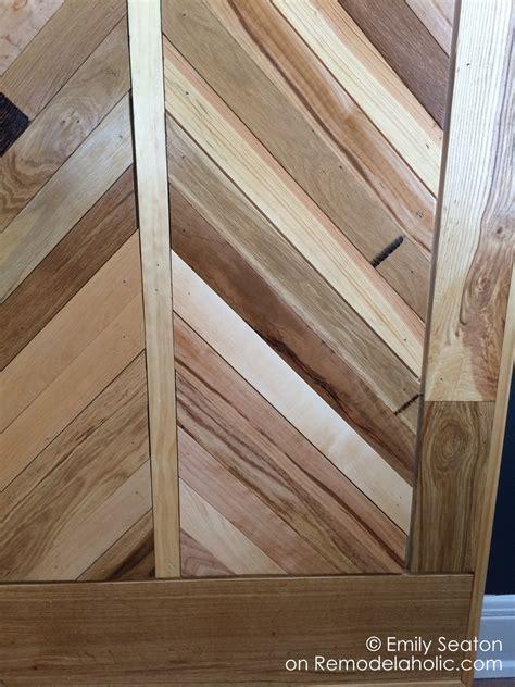 Remodelaholic   How to Build a Wood Chevron Barn Door
