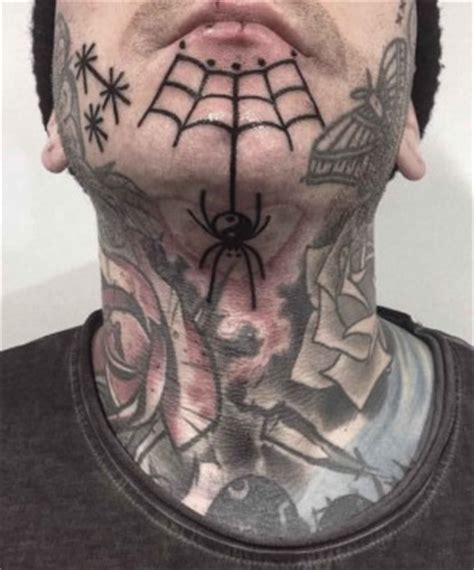 spider web nipple tattoo chin tattoos best ideas gallery part 4