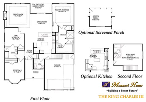 monarch homes floor plans king charles iii monarch homes of north carolina