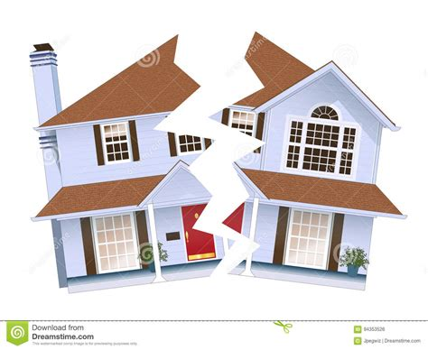 broken home stock illustration image of divided quarrel