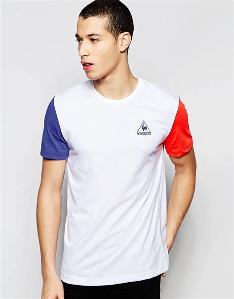 Kaos Le Coq Sportt Shirt le coq sportif t shirt in white 1611349 in blue for lyst