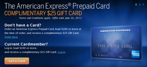 American Express Pre Paid Gift Card - american express prepaid card get 25 gift card banking deals
