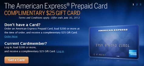 Prepaid Gift Card American Express - american express prepaid card get 25 gift card banking deals