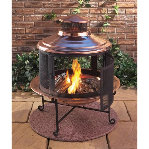 chiminea covered patio lit your outdoor space nuance with chiminea pit for