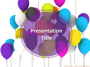 free celebration of templates balloons celebration powerpoint template free ppt