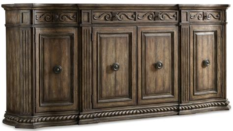 Decorative Credenza by Furniture Rhapsody 96 Inch Credenza With Rope Moulded Base And Oversized Decorative