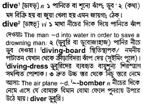 dive meaning meaning of dive