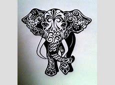 elephant drawing on Tumblr Indian Elephant Henna Drawing