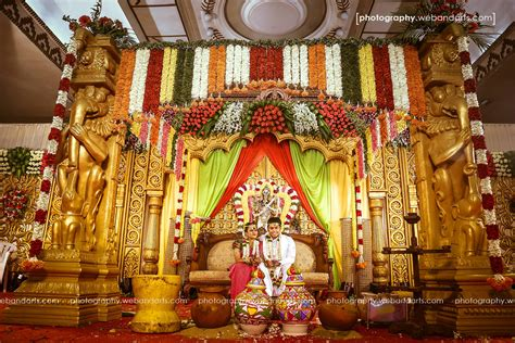 Wedding reception decoration at jayaram mandapam pondicherry 171 sigaram wedding decorators